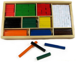 Cuisenaire Rods in a Wooden Box - 300 pieces