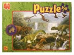 Dinosaur Puzzle with waterfall