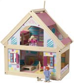 Timber Dolls House with furniture doll houses