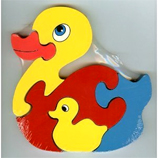 ANIMAL Theme Wooden DUCK Puzzle