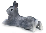 Schleich - Grey Pygmy Rabbit Lying - 14416.