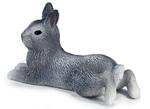Schleich - Grey Pygmy Rabbit Lying - 14416.