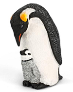 Schleich Emperor Penguin with Chick - 14632