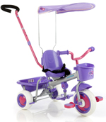 Euro Trike Ultima Canopy Trike Pink/Purple with Parent Steering