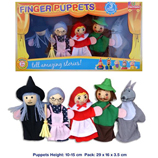 Red Riding Hood Finger Puppet Set