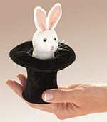 Folkmanis - Rabbit in a Hat