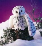 Folkmanis Snowy Owl Puppet 37cm