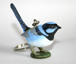 Splendid Bue Fairy Wren Replica Key Ring