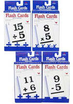 Math Flash Cards set of 4 x 50
