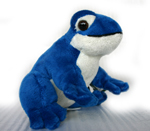 Plush Frog with Sound - Blue