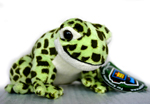 Plush Frog with Sound - Green Spotted