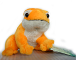 Plush Frog with Sound - Orange