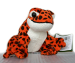 Plush Frog with Sound - Orange Spotted