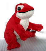 Plush Frog with Sound - Red