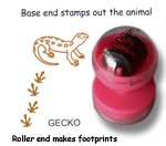 Gecko Animal Stamps