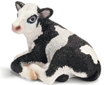 Schleich - Holstein Calf  Lying - 13639 - RETIRED