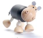 AnamalZ Hippo Wooden Figure