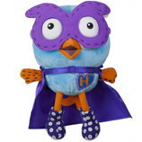 Plush Hoot Super Hero