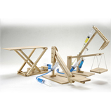 4 in 1 Hydralic Machines Working Wooden Construction Kit