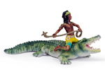 Schleich - Kenjok and Crocodile - 70444