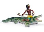 Schleich - Kenjok and Crocodile - 70444