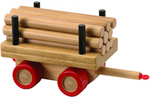 Kobba Playtime Log Carriage - Wooden
