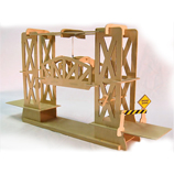Truss Design Lift Bridge Working Wooden Construction Kit