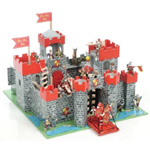 Le Toy Van Wooden Lion Heart Castle - Red