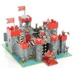 Le Toy Van Wooden Lion Heart Castle - Red