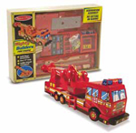 Mighty Builders Wooden Fire Engine