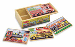 4 Wooden Vehicle Jigsaw Puzzles