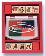 Wooden Baby Zoo Animals Stamps Set
