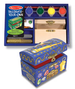 Melissa & Doug Decorate Your Own Wooden Treasure Chest