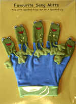 Favourite Song Mitts: Five Little Speckled Frogs
