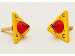Mouse and Chees Spinning Top - Wooden