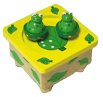 Wooden Music Box - Dancing Frogs