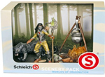 SCHLEICH - BAYALA -  Noctis Scenery Pack - Noctis Figure, Panther & Camp Fire - 41811