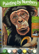 Reeves Junior Paint by Numbers - Chimp