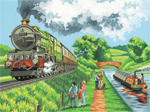 Reeves Paint by Numbers - Steam Train