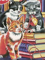Reeves Junior Paint by Numbers - Kittens on Books