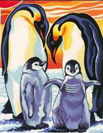 Reeves Junior Painting By Numbers - Penguins