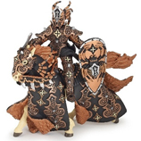 PAPO 38984 Dark Spider Warrior Knight with Horse