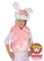 Kids Safari Pink Rabbit Hooded Jacket