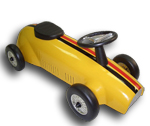 Speed Racer Ride On Car - Yellow