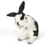 Schleich - Rabbit Grooming Black and White - 13698