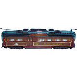 ELECTRIC 1:76 OO Gauge W6 Class Melbourne Restaurant Tram - # 938 Bella Diecast Model