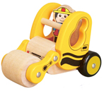 Wooden Road Roller with Driver