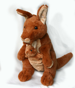 Rooby the Kangaroo with Joey 30cm
