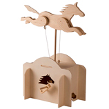 Jumping Horse Working Wooden Construction Kit