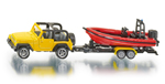 Siku - Jeep with Speedboat and Trailer Die-cast replica - 1658